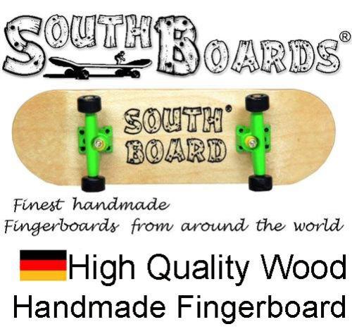 Komplett Fingerskateboard N/GR/SWZ SOUTHBOARDS® Handmade Wood Fingerboard Echtholz SOUTHBOARDS Deutschland #90203 N/GR/SWZ