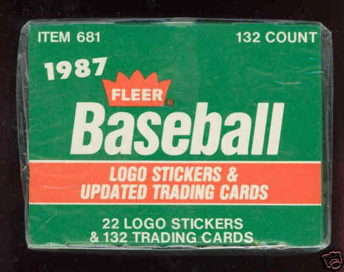 1987 Topps Traded Baseball (1987 Fleer Baseball Update Traded Complete Box Set Updated FACTORY Greg Maddux)
