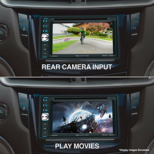 51zw8XsvlVL - BOSS Audio BV9358B Double Din, Touchscreen, Bluetooth, DVD/CD/MP3/USB/SD AM/FM Car Stereo, 6.2 Inch Digital LCD Monitor, Wireless Remote