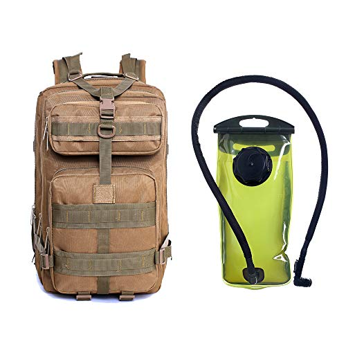 J.CARP Military Tactical Backpack, Hydration Backpack, Army Molle Bug-Out Bag, Rucksack for Hunting, Survival, Camping, Trekking