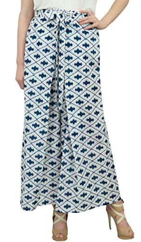 De Boho Índigo Cintura Yoga Azul Pantalones Gitana Panst Pescador Phagun Harem Elástico 6B1nxfRXRq