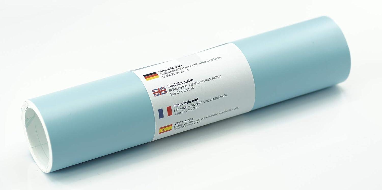 Lámina de tatuaje de pared mate 21 cm x 3 m - elección de colores, Color:Azul Pastel: Amazon.es: Hogar