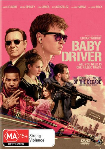 Baby Driver   Ansel Elgort  Kevin Spacey  Lily James  Non Usa Format   Pal   Region 4 Import   Australia