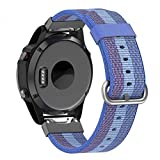 Yooside 22mm Replacement Watch Band Belt Nylon Belt Quick Release easy fit Connector for Garmin Fenix 5/Forerunner 935/Approach S60 (Blue)