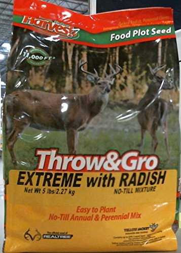 Evolved Habitat Throw and Grow extreme No Till Raddish Food Plot, 5lb by Evolved Habitat