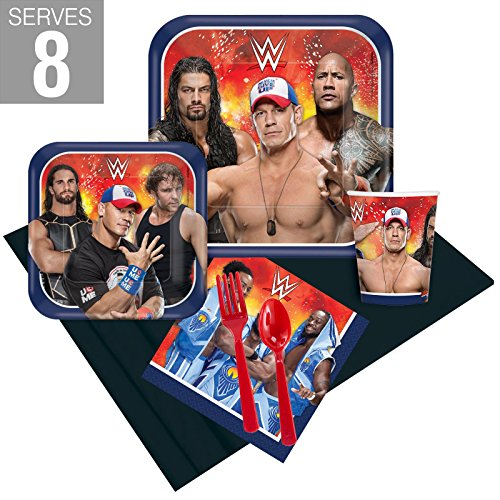 BirthdayExpress WWE Party Supplies Party Pack For 8 by BirthdayExpress