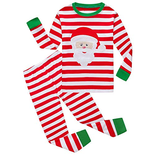 Vingi Christmas Pajamas Set for Boys Girls Kids Pjs Toddler Sleepwear Santa Claus Cotton Pajamas