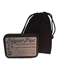 Jaguar Paw Foot Deodorant Hand Beard and Body Cleansing Conditioning After Shave Balm For Dry Hair Natural Ingredients Shaving Butter For Men Aftershave - As Seen On Shark Tank