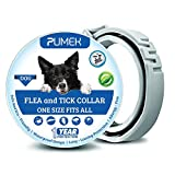 PUMEK Dogs Flea and Tick Collar - Flea and Tick Prevention for Dogs Up to 1 Year - All Weights and Sizes - Adjustable And Waterproof with 100% Natural Flea and Tick Control Collar