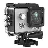 1080P Action Camera, SJCAM SJ4000 12MP Waterproof Underwater Camera- Burst Shot /2.0 LCD Screen (30M Waterproof Case+Accessories Included) -Sliver