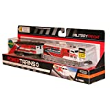 Jakks Pacific Year 2013 Power Trains Series 4 Battery Powered Motorized Train Engine Set - Weapon Contractor Missile Transport MILITARY FREIGHT with Working Headlight and 2 Speed Setting Plus 1 Support Car