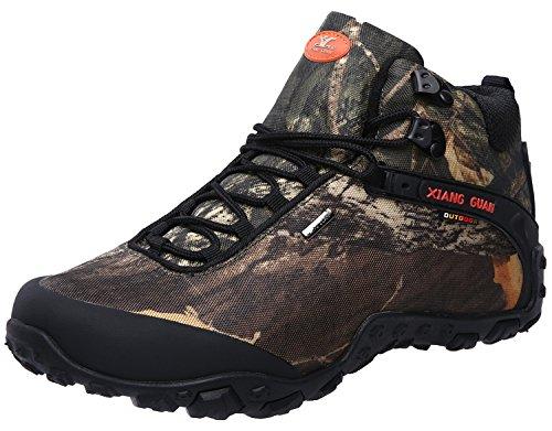 XIANG GUAN Men's Outdoor High-Top Camouflage Water Resistant Trekking Hiking Boots
