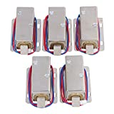 BQLZR Silver Lock Tongue Upward Luggage Solenoid Electric Lock Assembly 12V TFS-A21 Pack of 5
