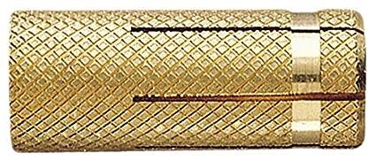Index Fixing Systems Tala –  Confezione di 200 Tasselli per fissaggio leggera in materiali pieni (ottone), TALAM06