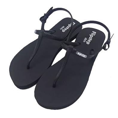 Flip Flops, Farbe Grau/Schwarz Größe 35.5-38.5