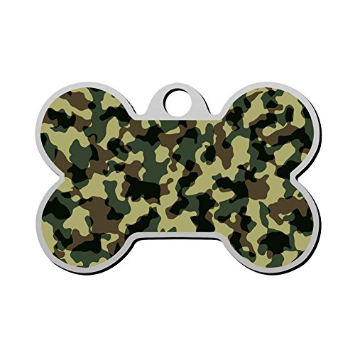 FENGzhong Customized Woodland Camo Camouflage Pet ID Tags for Cat and Dog Tag - Front and Back Print Design ()