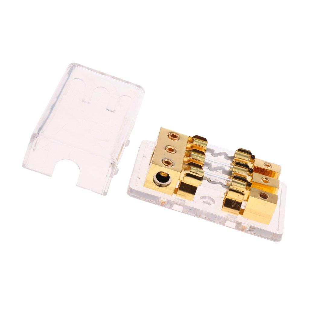 100A IPOTCH Porte-Fusible FBAG-4 Bloc De Distribution Fil De 4.8 AGU 1 /à 3 Positions