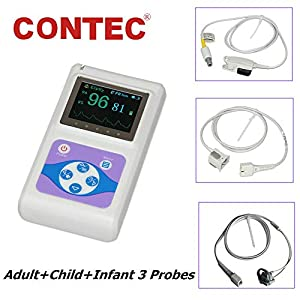 Contec CMS60D OLED Handheld Pulse Oximeter with Adult, Paediatric and Neonatal SPO2 Probes