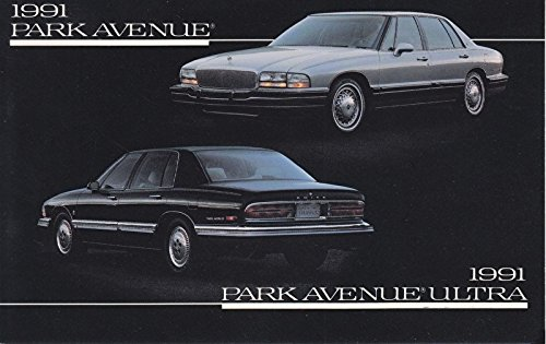 1991 BUICK PARK AVENUE & PARK AVENUE ULTRA SEDAN VINTAGE COLOR POST CARD - GREAT ORIGINAL POSTCARD - USA !! Ultra Park Avenue