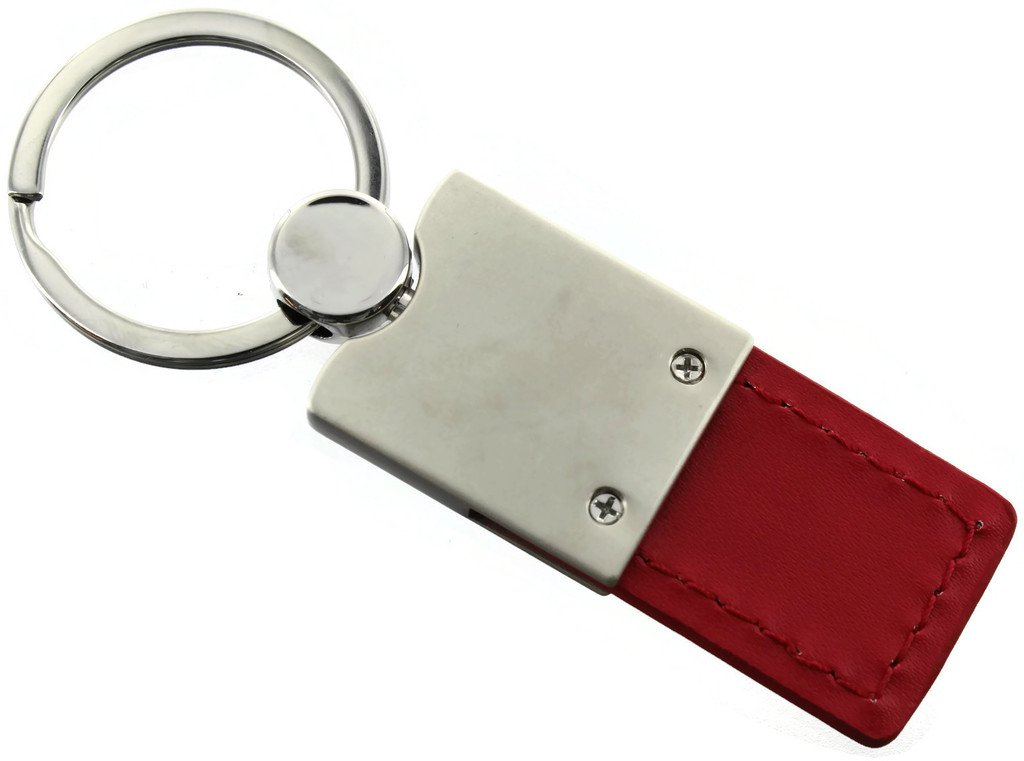 Au-Tomotive Gold 4x4 Ford F-150 Red Leather Car Fob Key Chain Ring INC
