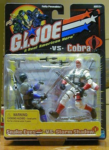 GI JOE vs Cobra Black Blue Trim Snake Eyes vs. White Red Storm Shadow versions ()