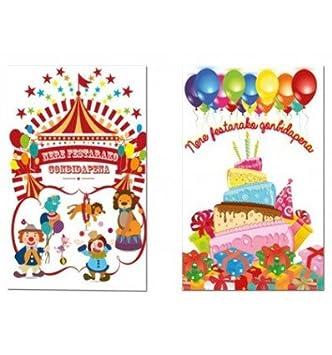 Tarjeta De Invitacion Arguval Fiesta Infantil Bliste De 6