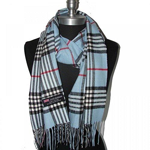 Blue_(US Seller)New Fashion Scarf Scotland Made Warm Wool - A91