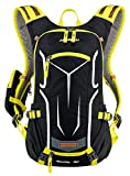 Veenajo 18L Durable Lightweight Cycling Backpack Biking Rucksack Bike Pack Outdoor Sports Running Travelling Daypack for Men and Women Mountain/Road/Street Bike with Rain Cover Yellow