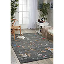 """Nourison Contour (CON12) Slate Rectangle Area Rug, 3-Feet 6-Inches by 5-Feet 6-Inches (3'6"""" x 5'6"""")"""