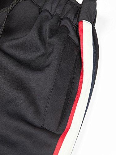 Pantalons Pièces Ensemble Survêtement Capuche Homme Gris Manches Jogging Zipper Manluodanni Slim Clair Loisir Sweat À 2 Longues Et Sports p5OqayyTvw