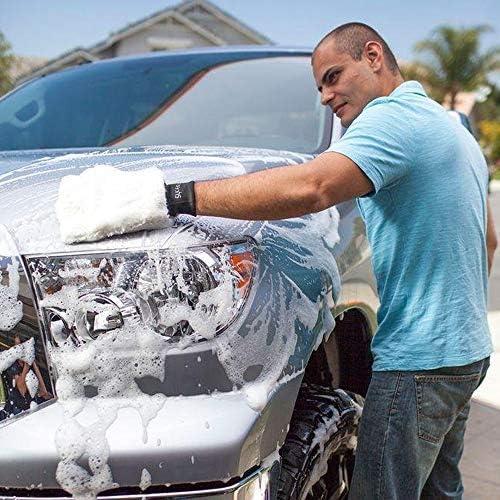 SYCEES Guanto Pulizia per Auto//Guanto Pelo per Lavaggio Pulizia Lucidatura in Microfibre Pelo Ultrafine Impermeabile Super Assorbente//Manutenzione Ceretta Manuale Per Auto Bianco