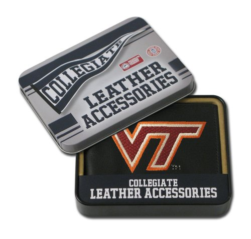 NCAA Virginia Tech Hokies Embroidered Leather Billfold Wallet