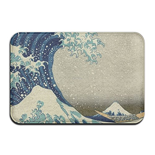 Bali Wave - BaLin Custom Great Wave Off Doormat - Floor Mat Indoor Entrance Rug Decor Mat, 23.6