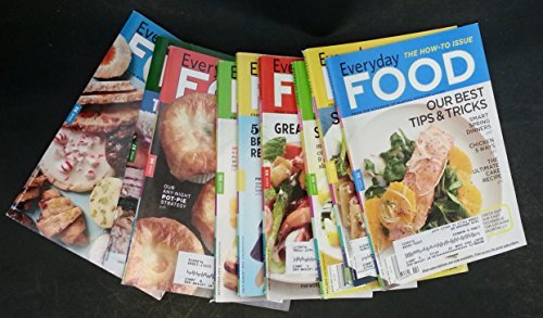 9 Everyday Food Magazines. All 2012. 9 ISSUES are: March - April - May - June - July/August - September - October - November + December.