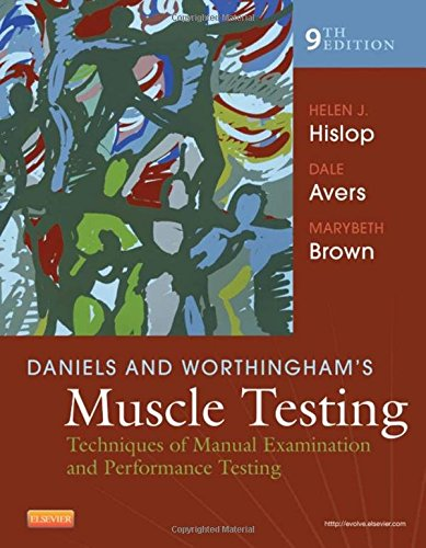 Daniels and Worthingham's Muscle Testing: Techniques of Manual Examination and Performance Testing, 9e (Daniels & Worthington's Muscle Testing (Hislop))