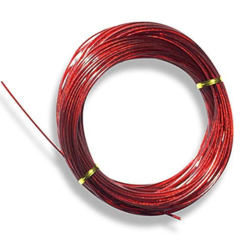 (125' Red Vinyl Clad Cable for Above Ground Swimming Pool Winter Covers)
