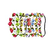 RIANCH 9 Pieces Multicolor Flower Headband Floral Wreath Crown Hairband BFS17-9B