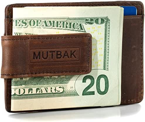 MUTBAK Bunker - Front Pocket Money Clip Wallet with RFID/NFC Blocking