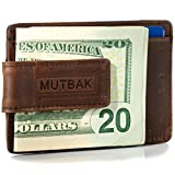 MUTBAK Bunker - Front Pocket Magnetic Money Clip Wallet with RFID/NFC Blocking (Memphis)