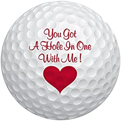 Romantic Balls TM by JustPaperRoses - baseball, football, soccer ball, basketball (Golf Ball)