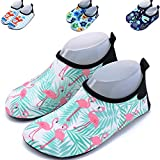 AkiWoo Kids Water Shoes Aqua Socks Quick Dry Barefoot Socks for Boys Girls Toddlers Beach Shoes Swim Shoes