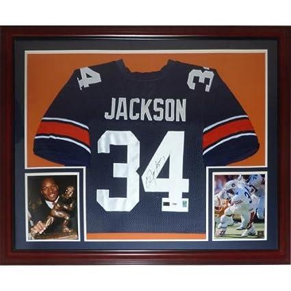 big sale 36f15 7e2c0 Bo Jackson Autographed Auburn Tigers (Blue #34) Deluxe ...