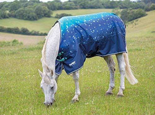Bluee Nebular 66 Shires Tempest Original 100g Horse Outdoor Turnout Rug in Blue Nebular 56