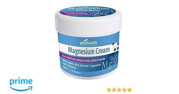 Good Health Crema de Magnesio | 90g | Alivio rápido de dolores musculares, articulares y nerviosos | Contiene aceites orgánicos y magnesio Zechstein: ...