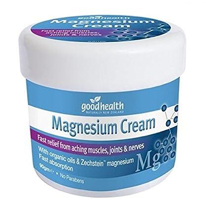 Good Health Crema de Magnesio | 90g | Alivio rápido de dolores musculares, articulares y