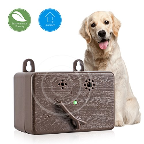 TAKUSKY Ultrasonic Dog Bark Controller Outdoor Anti Barking Device Sonic Bark Deterrents Stop Dog Barking Device Dog Silencer Dog Training Control Repeller Safe for Dogs Up to 50 Feet[2018 UPGRADED] by TAKUSKY