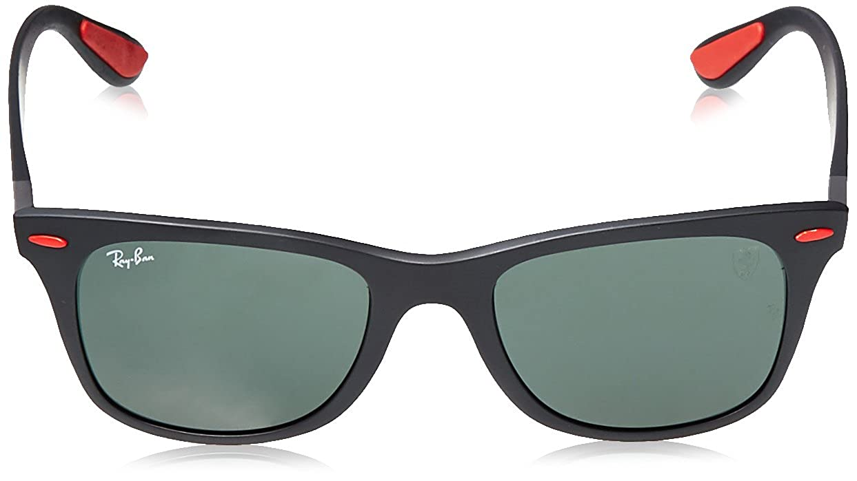 e0420cd79664a0 Amazon.com  Ray-Ban Men s Plastic Man Sunglass Square, Matte Black, 52 mm   Clothing