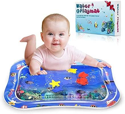 Alfombra Inflable del Agua para Bebé,VOOKI Estera de Agua de PVC Grueso,Tapete a Prueba de Fugas,Centro de Actividades Divertidas para los ...