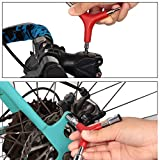 5 Pieces Spoke Tool Kit Includes 8 Cut Open Bicycle Spoke Wrench, Bike Spoke Wrench with Rubber Handle, Tire Lever, Y-Type Hex Wrench and Y-Type Socket Wrench