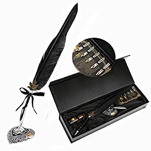 Amazon.com: Feather Quill Pen Set Sunsbell Calligraphy ...Quill And Ink Sets Amazon